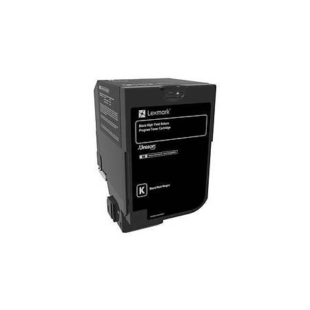 Lexmark 74C5HK0 Yüksek Kapasiteli Black Return Toner