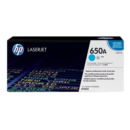 HP 650A CE271A - Color LaserJet Enterprise M750 - CP5525 Orjinal Mavi Toner