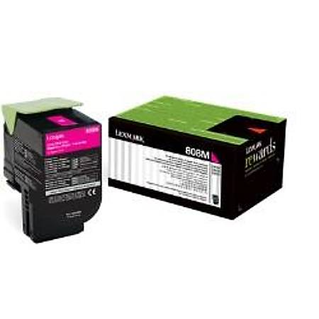 Lexmark 80C80M0 Kýrmýzý Return Toner 1000 Sayfa
