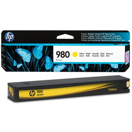 HP 980 D8J09A Officejet Enterprise X555 - X585 Orjinal Sarý Kartuþ