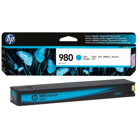 HP 980 D8J07A Officejet Enterprise X555 - X585 Orjinal Mavi Kartuþ