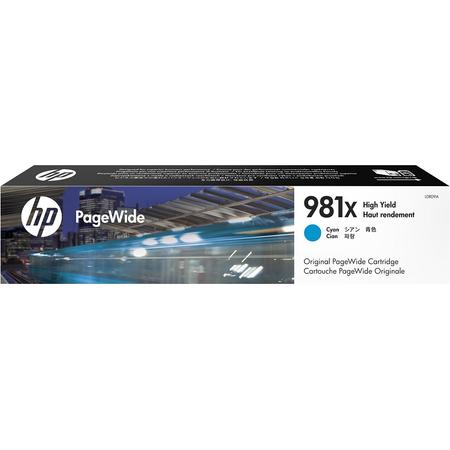 HP 981X L0R09A - PageWide Enterprise Color 556 - 586 Orjinal Mavi Kartuþ