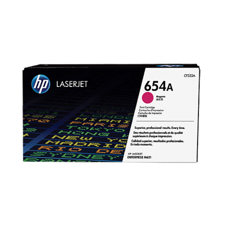 HP 654A CF333A - Color LaserJet M651 Orjinal Magenta Toner