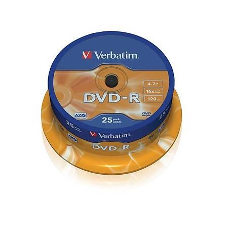 Verbatim Dvd-R 16X 4,7gb.25'li Cake Box