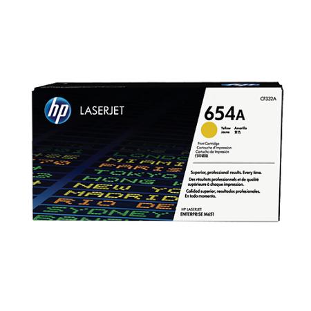 HP 654A CF332A - Color LaserJet M651 Orjinal Sarý Toner