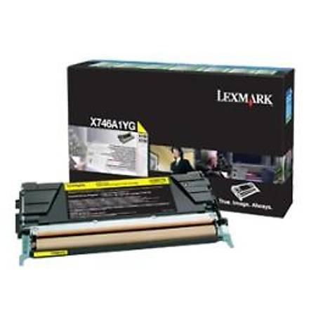 Lexmark X746A1YG Sarý Return Toner Cardridge 7K