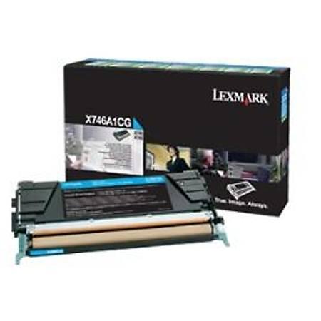 Lexmark X746A1CG Mavi Return Toner Cardridge 7K