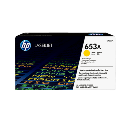 HP 653A CF322A - Color LaserJet M680 Orjinal Sarý Toner