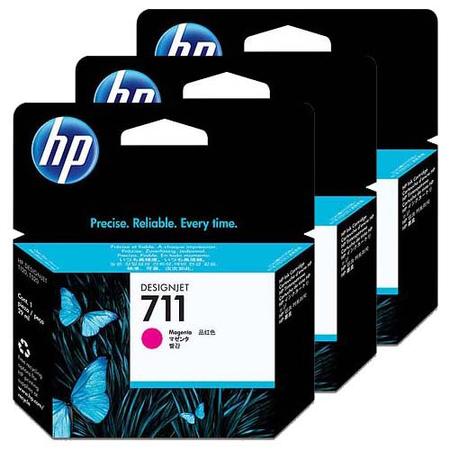 HP CZ135A 711 MAGENTA KARTUÞ - HP Designjet T120 - T520 Orjinal Magenta Kartuþ 3lu Paket