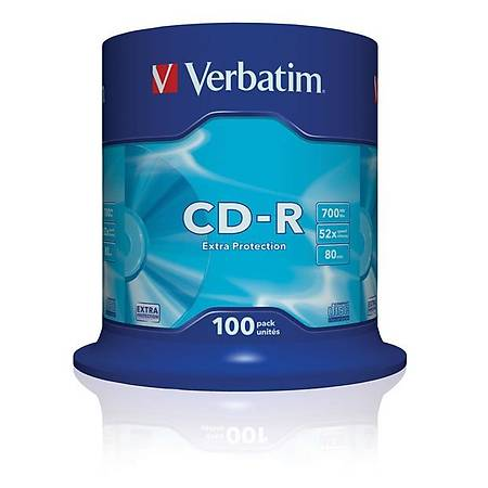 Verbatim 43411 CD-R 100 Spindle Extra Protection 52x 700MB