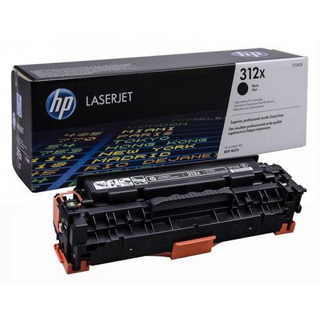 HP 312X CF380X TONER - Hp Colorlaserjet Pro M476DN - M476DW - M476NW Orjinal Siyah Toner Yuk.Kapasite