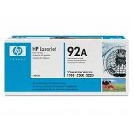 HP C4092A Black Toner Kartuþ (92A)