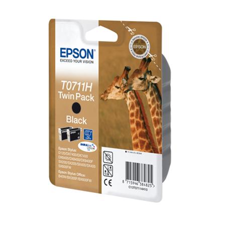 Epson T0711H - EPSON T07114H Twinpack Orjinal Siyah Kartuþ