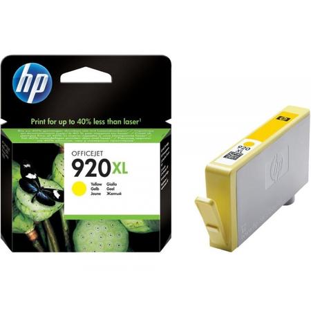 HP 920XL SARI KARTUÞ - Hp Officejet 7000N / 7500A / 6500 / 6000 Kartuþ - HP CD974A Orjinal Kartuþ