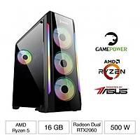 GAMEPOWER DRACUL RYZEN 5 3600 16GB RTX2060-O6G GAMING BÝLGÝSAYAR