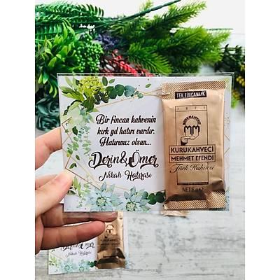 Yeþil Çiçekli Hediyelik Kahve Paketi