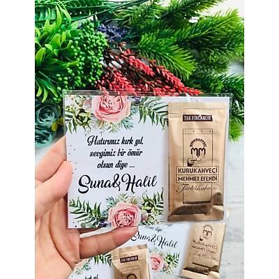 Büyük Pembe Çiçekli Hediyelik Kahve Paketi