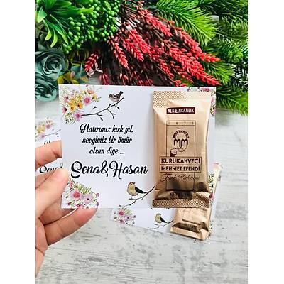 Çiçek ve Kuþlu Hediyelik Kahve Paketi