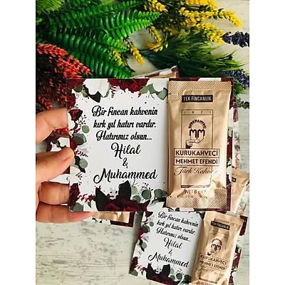 Bordo Çiçekli Hediyelik Kahve Paketi
