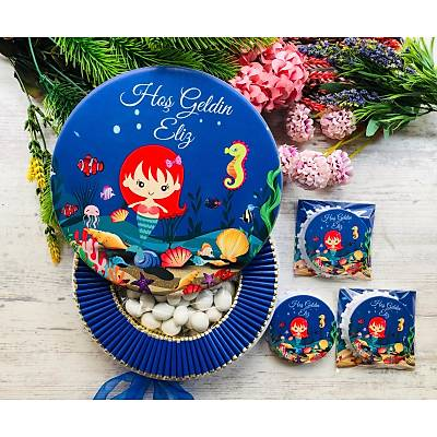 Deniz Kýzý Temalý Çikolata+Açacaklý Magnet Set