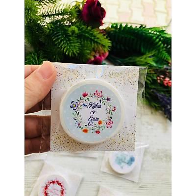 Mini Sabun Hediyelik -Yeþil  Çiçek Temalý