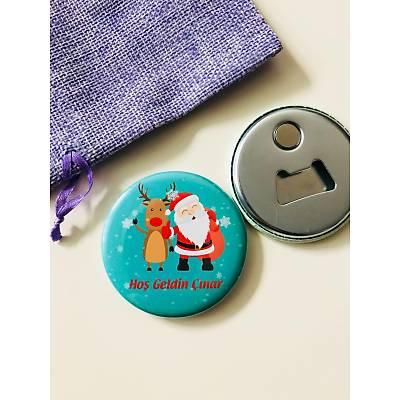 Erkek Çocuk Açacak Magnet Noel Temalý