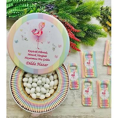 Flamingo Temalý Çikolata+Açacaklý Magnet Set