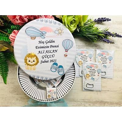 Uçan Balon ve Aslan Temalý Çikolata+Açacaklý Magnet Set