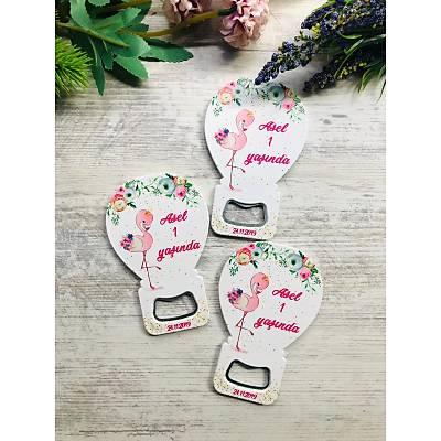 Balon Açacak Magnet Flamingo Temalý