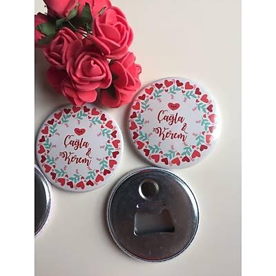 Kalpli ve Çiçekli Açacak Magnet