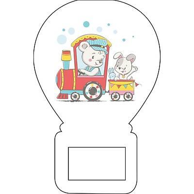Balon Açacak Magnet Þirin Ayýcýk ve Tren