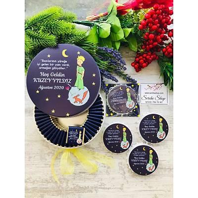 Küçük Prens Temalý Çikolata+Açacaklý Magnet Set