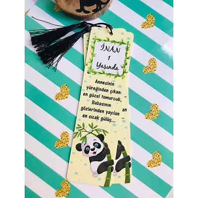 Panda Temalý  Kitap Ayracý