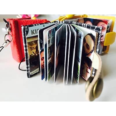 Mini Albüm Anahtarlýk (Turuncu kareli )