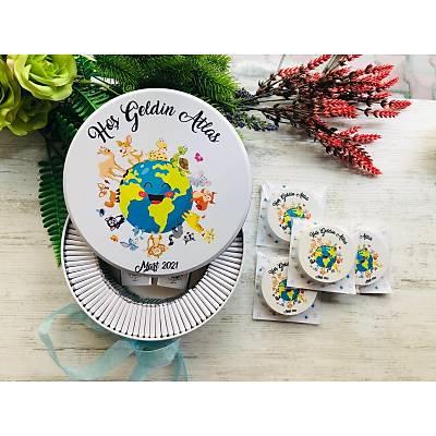Atlas Temalý Çikolata+Açacaklý Magnet Set