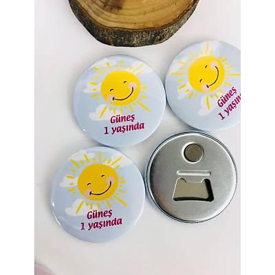 Kýz Çocuk Açacak Magnet Güneþ Temalý
