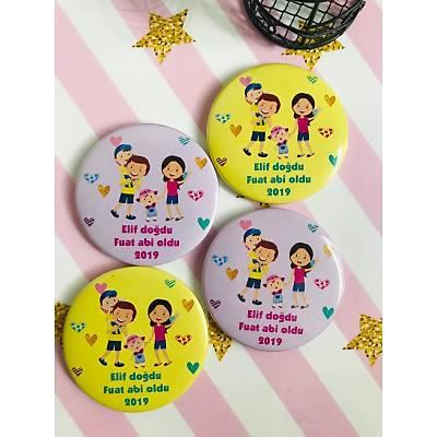 Kýz Çocuk Açacak Magnet Mutlu Aile Temalý