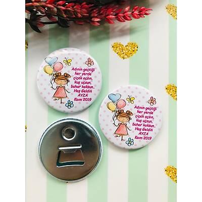 Kýz Çocuk Balon ve Sevimli Kýz Temalý Açacak Magnet