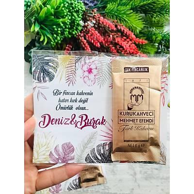 Mor Çiçekli Hediyelik Kahve Paketi