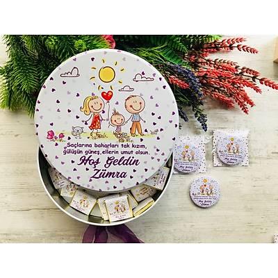 Aile Temalý  Çikolata+Açacaklý Magnet Set
