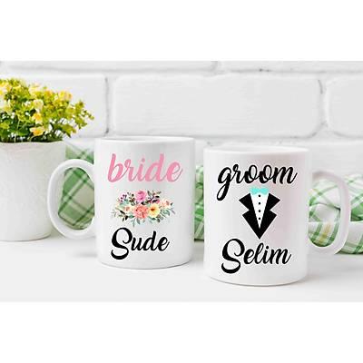 Bride/Gelin ve Groom /Damat  Kupa Baský 2'li Set