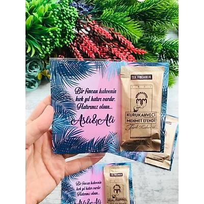 Lacivert Yapraklý Hediyelik Kahve Paketi
