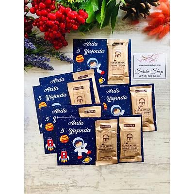 Uzay Temalý  Hediyelik Kahve Paketi