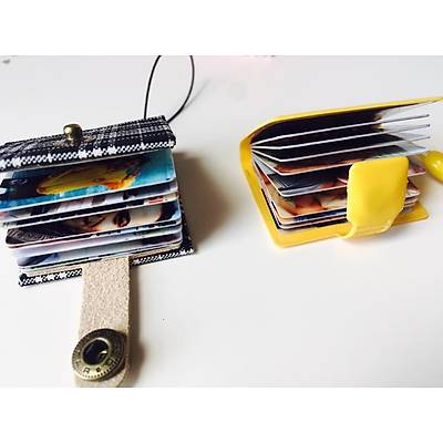 Mini Albüm Anahtarlýk (mor süet)
