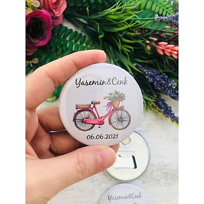Bisiklet Temalý  Metal Açacaklý Magnet