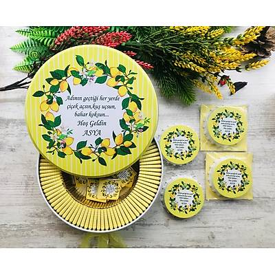 Limon Aðacý Temalý Çikolata+Açacaklý Magnet Set