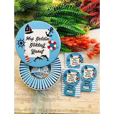 Deniz Temalý Çikolata+Açacaklý Magnet Set