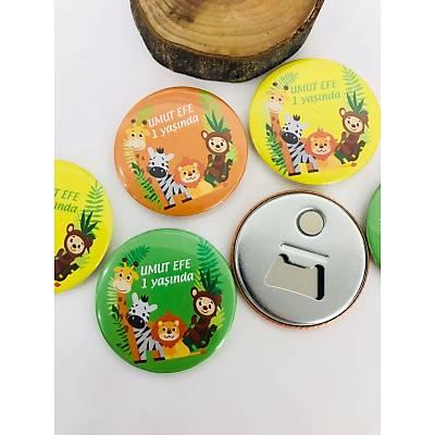 Erkek Çocuk Açacak Magnet Safari Temalý