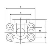 FS606-90°-S 6000 PSI Serisi O-Ringli Kaynaklý 90° Flanþ - Geçme Kaynaklý Tip