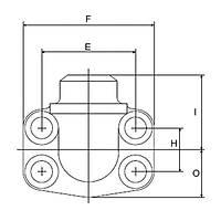 FS604-90°-ST 6000 PSI Serisi O-Ringli Kaynaklý 90° Flanþ - Alýn Kaynaklý Tip